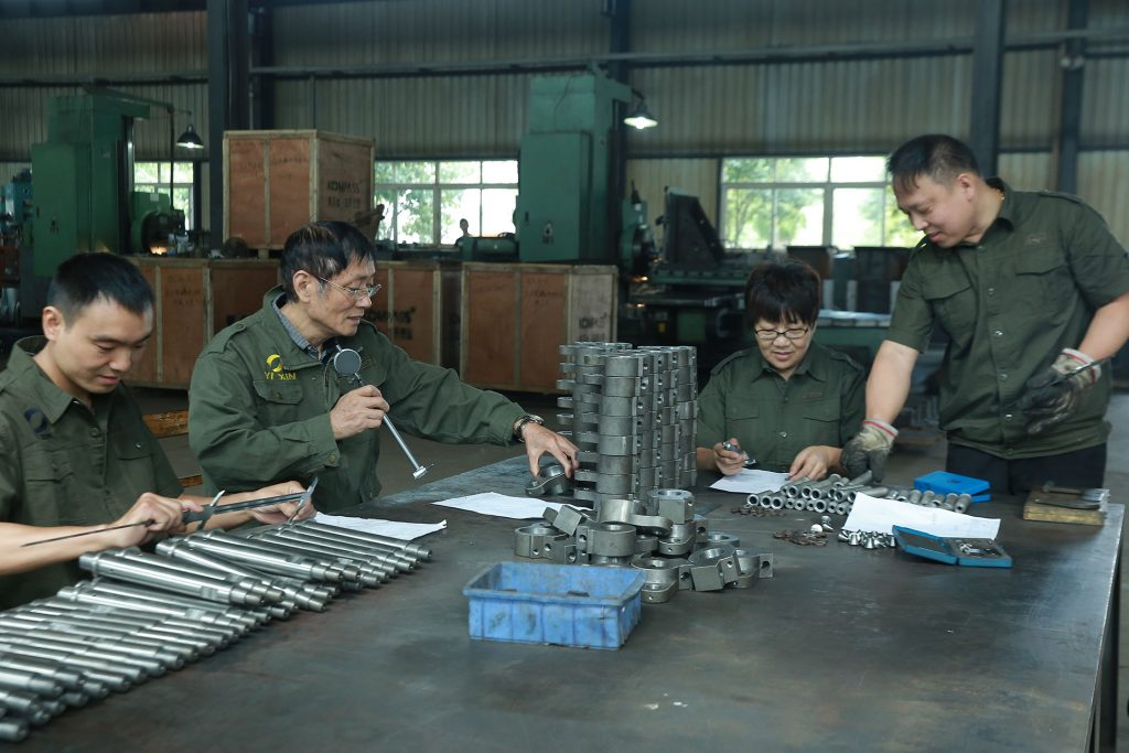 Brilliant staffs in the factory