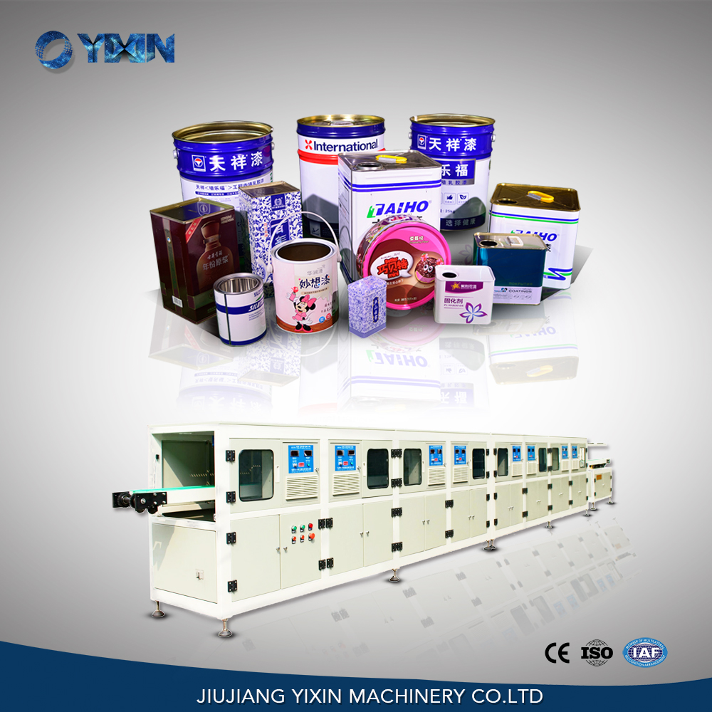 China automatic square tin can body induction drying oven machine