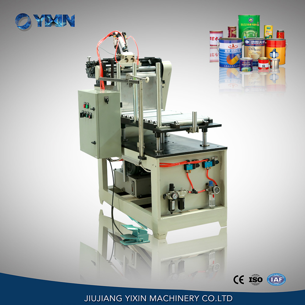 Customized semi-automatic round drum tin can rolling machine for sale