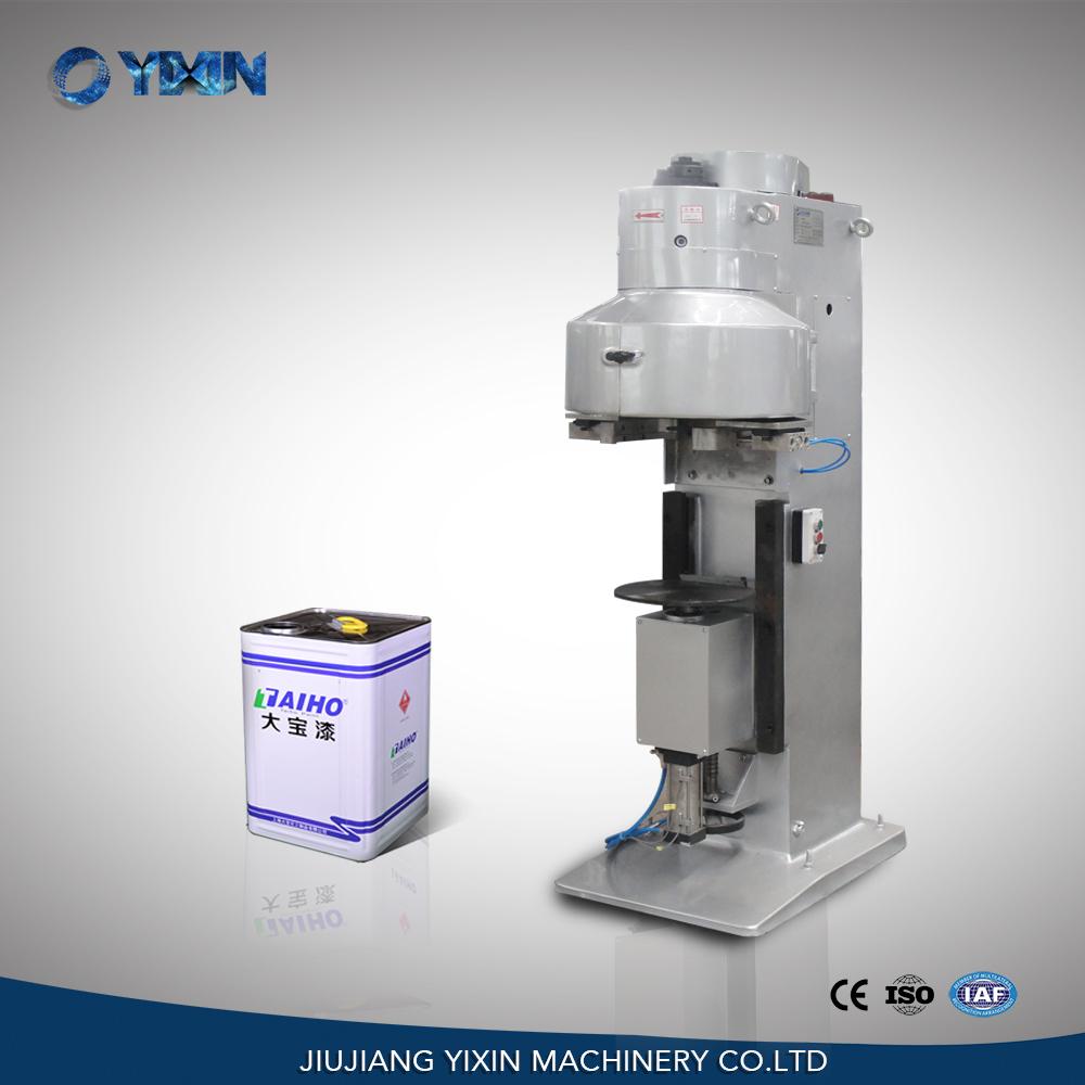 GT4A28Q pneumatic square rectangular semi automatic tin can sealer, sealing machine