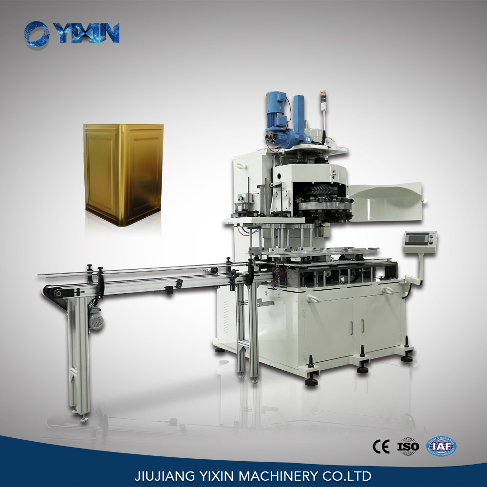 GT4B188 automatic square tin can sealing machine for edible oil can, food can