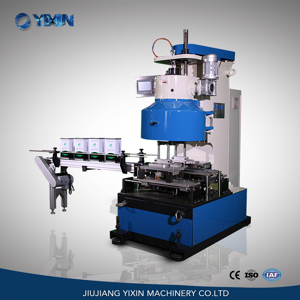 GT4B27 Six roller automatic rectangle tin can sealing machine from China supplier