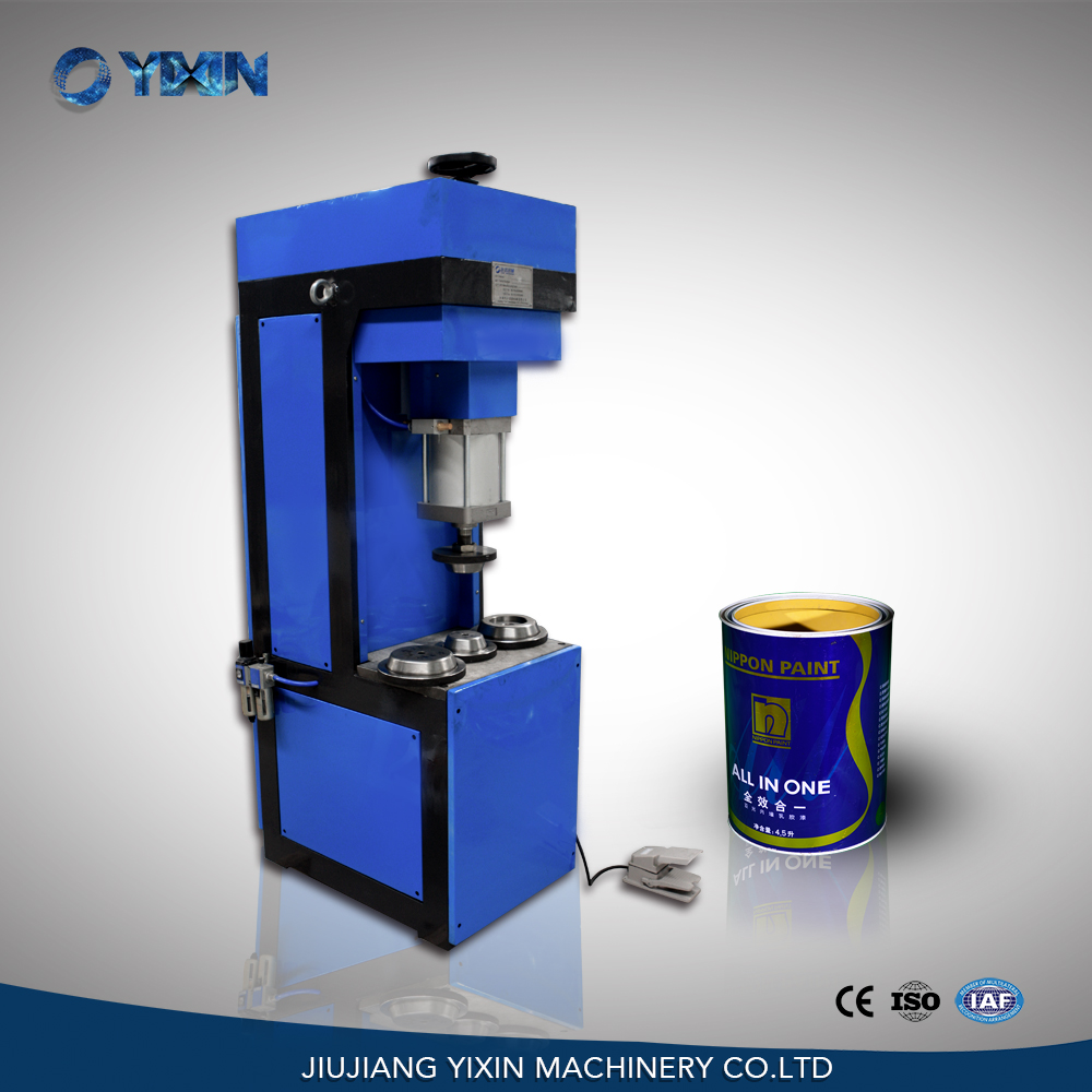 Manual pneumatic flanging machine for small & big size round tin can