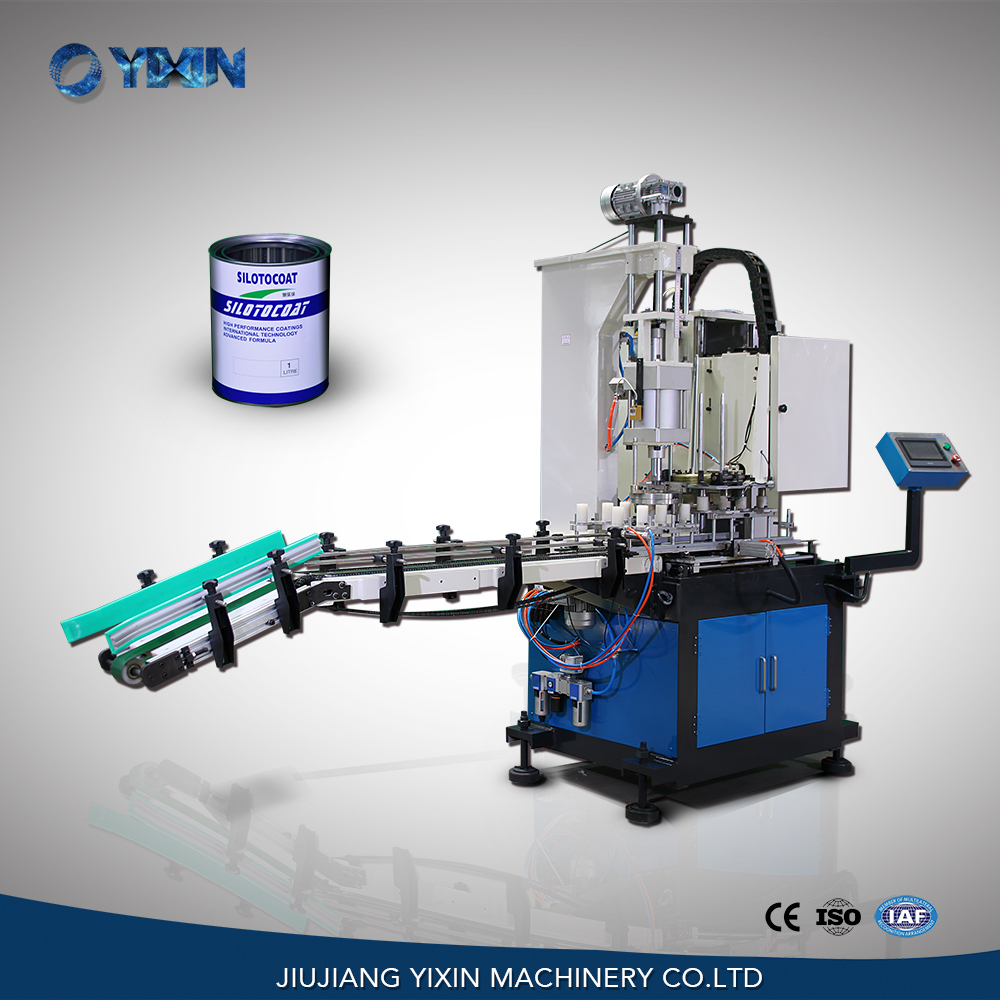 RA52-180 Automatic pneumatic small round can seamer, sealing machine for sale