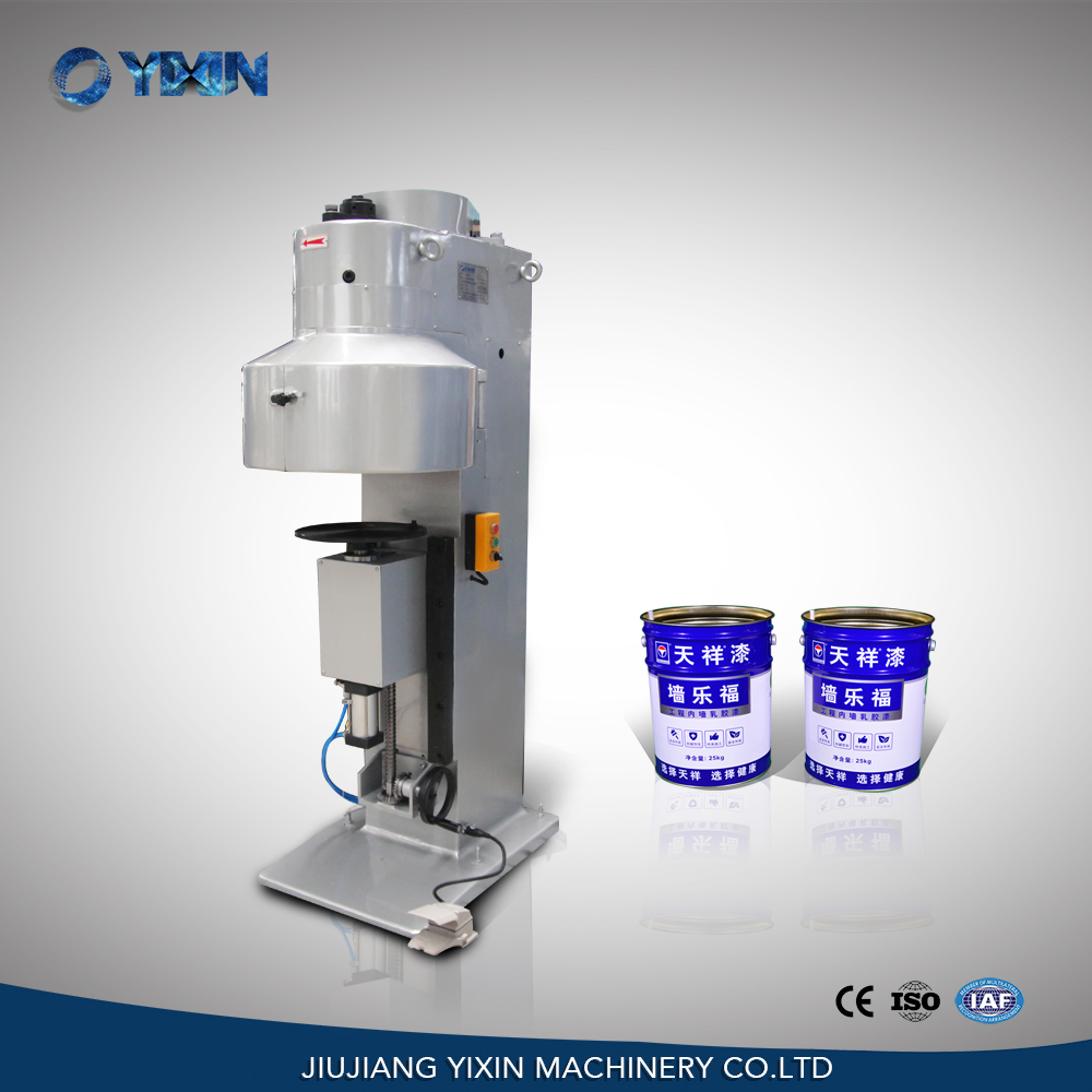 Semi automatic pneumatic metal can seamer for conical round tin can