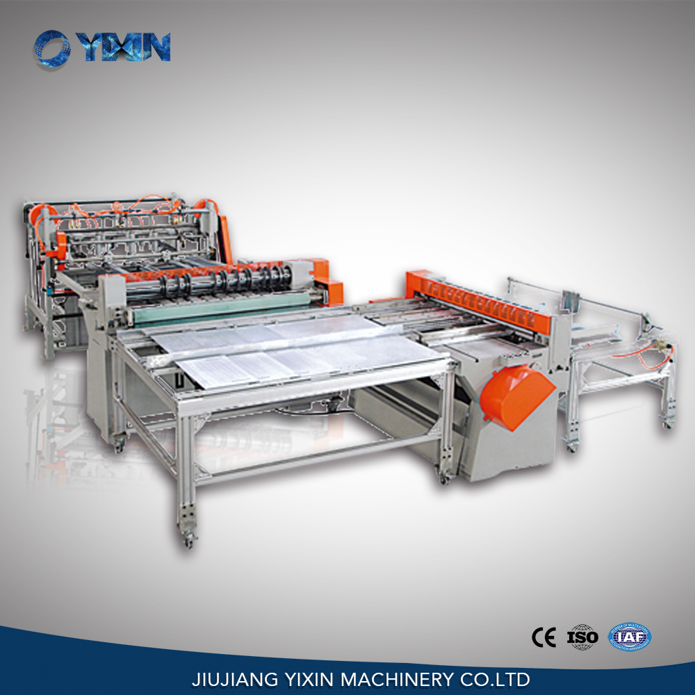 Tin plate scroll shearing cutting machine for square tin can making
